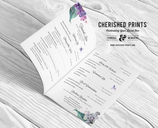 Lilacs Multi-Page Funeral Booklet Program, Celebration of Life Program, Memorial Booklet, Multipage Folder, Order of Service