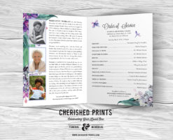 Lilacs Funeral Program Folder for Celebration of Life and Memorial Services
