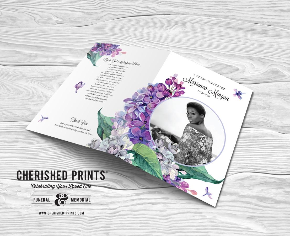 Lilacs Funeral Program Folder for Celebration of Life and Memorial ServicesLilacs Funeral Program Folder for Celebration of Life and Memorial Services