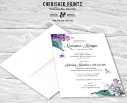 Lilacs Celebration of Life Invitations, Mourning Cards and Announcements