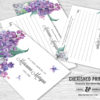Lilacs Share a Memory Cards for Celebration of Life, Memorials and Funerals