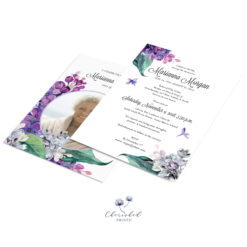 Lavender and Purple Lilacs Announcement