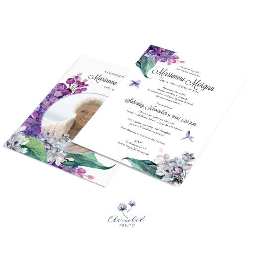 Lavender and Purple Lilacs Announcement