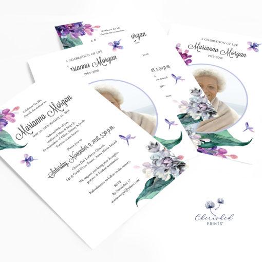 Purple Lilacs Invitation