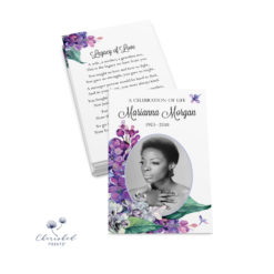 Lilacs Prayer Card
