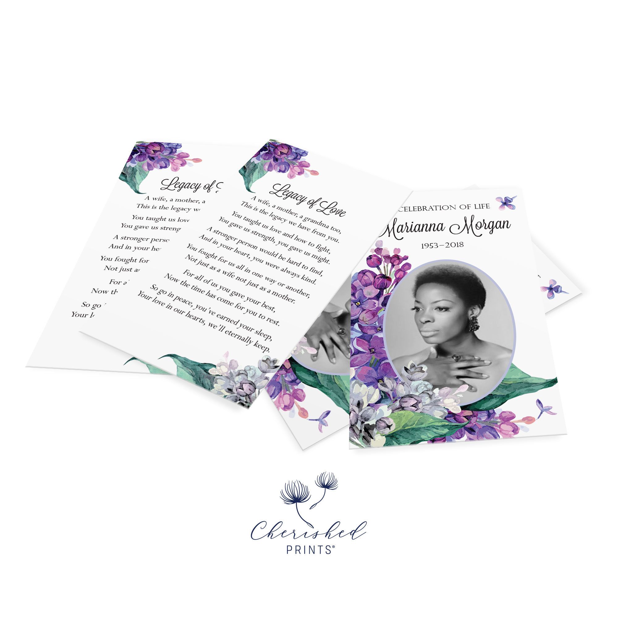 Lilacs Prayer Card