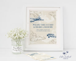 Vintage-Airplanes Memory Card Sign Instant Download