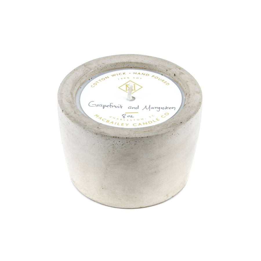 Concrete Candle 8oz - Natural