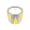 8 oz Concrete Candle - Gold Triangles