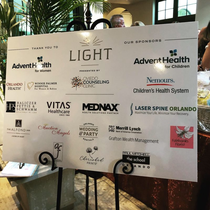 The Finley Project Gala: Light Sponsors