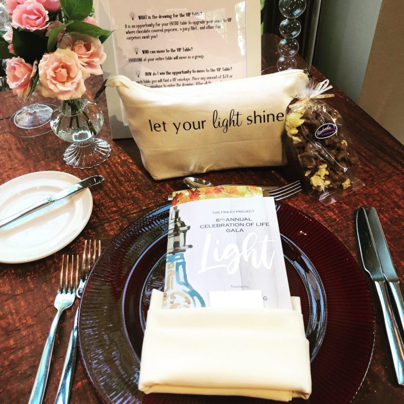 The Finley Project Gala: Light VIP Table Setting