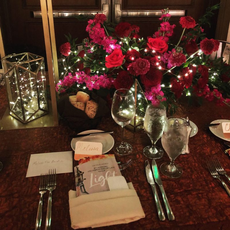 The Finley Project Gala: Light Table Setting