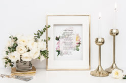 God's Garden Watercolor Rose Poem Print